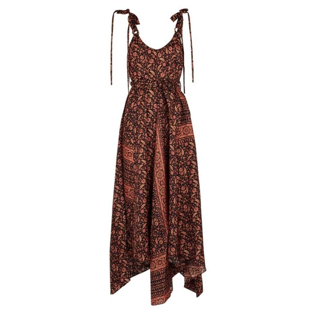 Zimmermann Juniper Printed Silk Dress