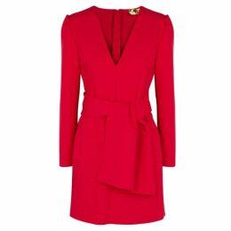 MSGM Red Cady Mini Dress