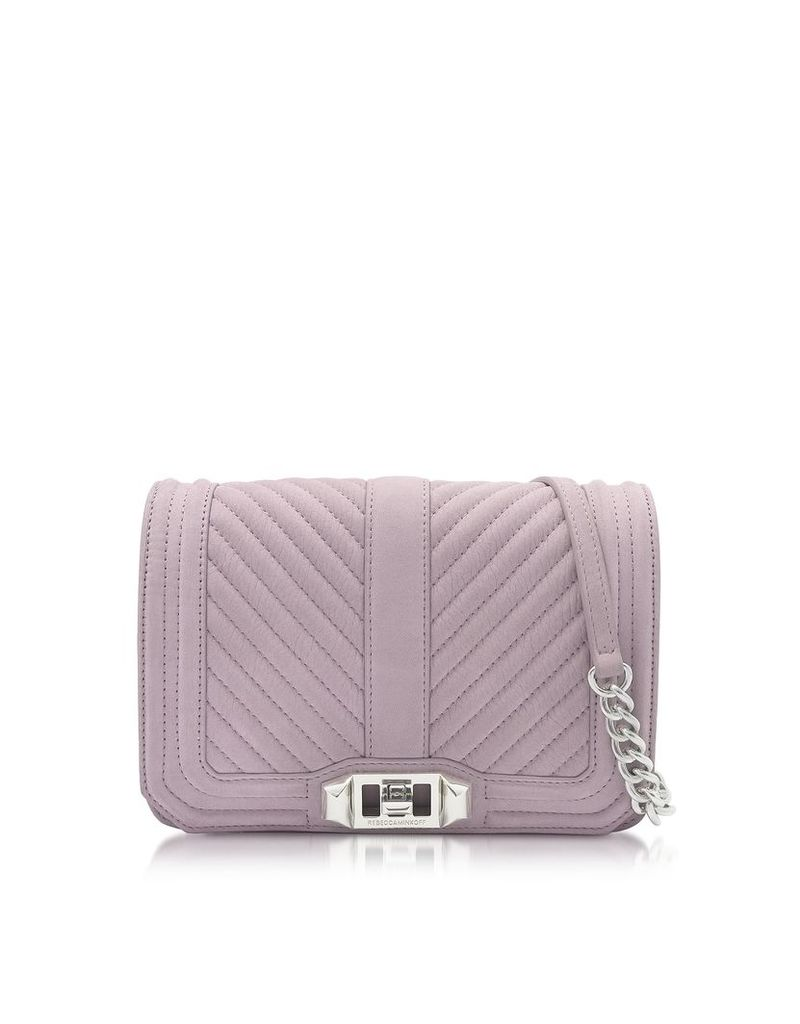 Rebecca Minkoff Designer Handbags, Chevron Quilted Small Love Crossbody