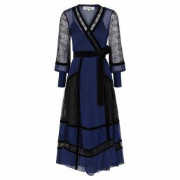 Diane Von Furstenberg Forrest Lace And Silk Chiffon Midi Dress