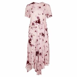 Preen Line Pink Floral-print Asymmetric Dress