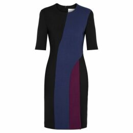 BOSS Delivia Panelled Cady Midi Dress