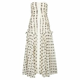 Zimmermann Corsage Polka-dot Linen-blend Dress