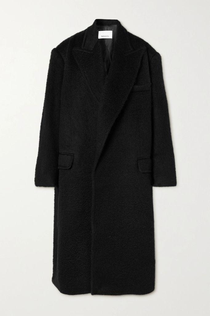 Nanushka - Eska Oversized Quilted Vegan Leather Coat - Black