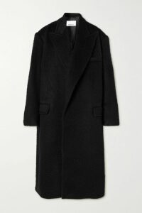 Nanushka - Eska Oversized Quilted Vegan Leather Coat - Black