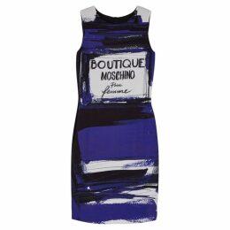 Boutique Moschino Blue Perfume-print Dress