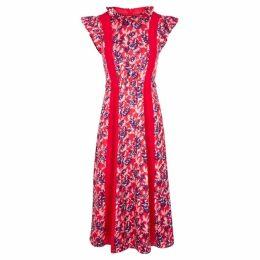 THREE FLOOR Wildflower Panelled Georgette Midi Dress