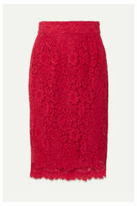 J.Crew - Lace Pencil Skirt - Red