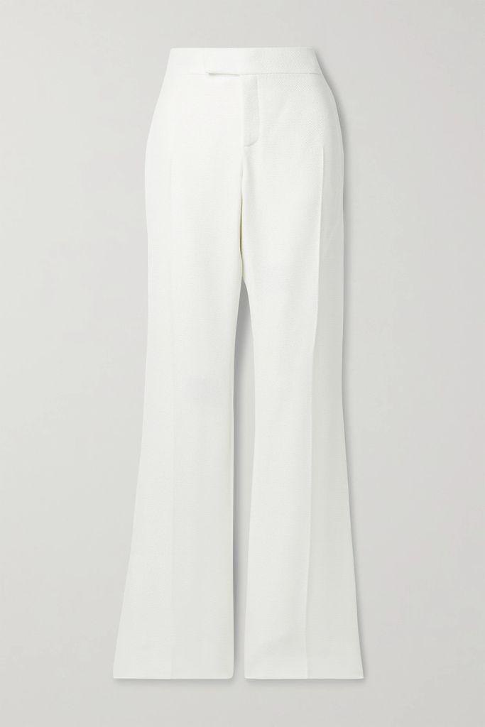 TOM FORD - Belted Cotton-blend Twill Skirt - Black