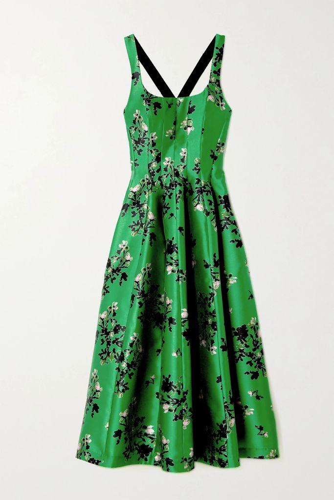 Balenciaga - Asymmetric Pleated Crepe Midi Skirt - Purple