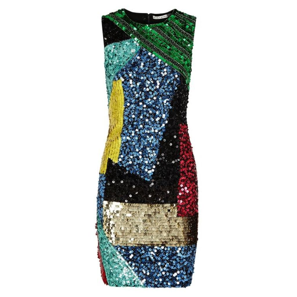 Alice + Olivia Nat Sequinned Mini Dress