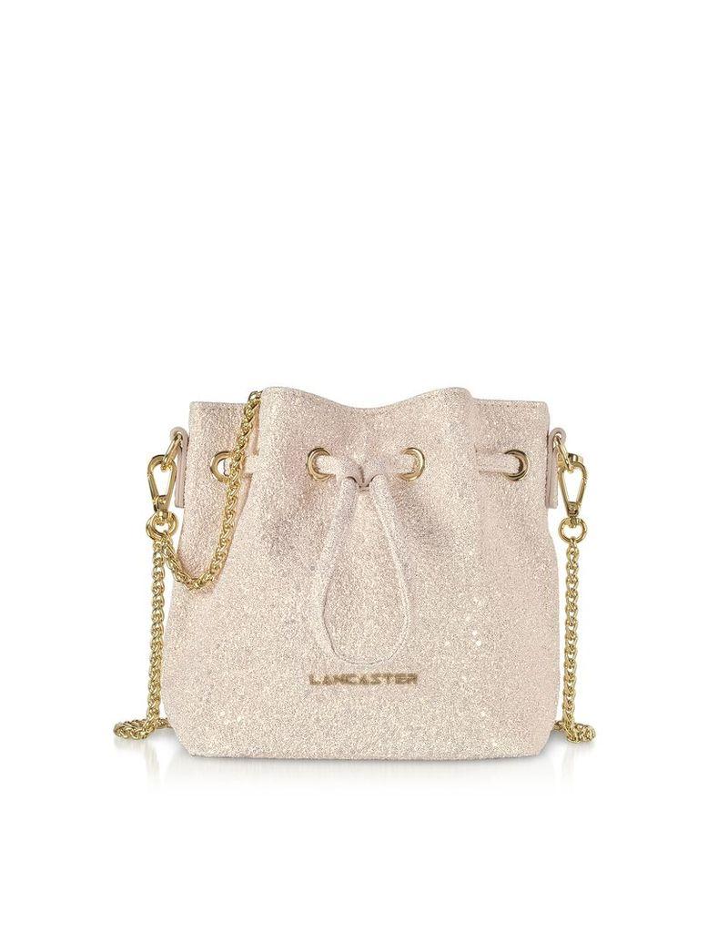 Lancaster Paris Designer Handbags, Actual Shiny Mini Bucket Bag