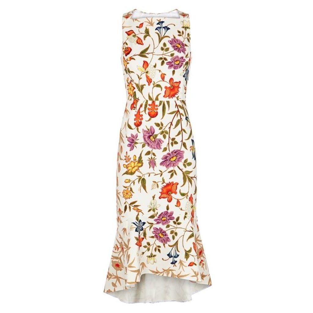 Peter Pilotto Kia White Floral-print Dress