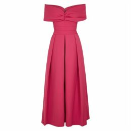 Preen By Thornton Bregazzi Daniela Pink Ruched Maxi Dress
