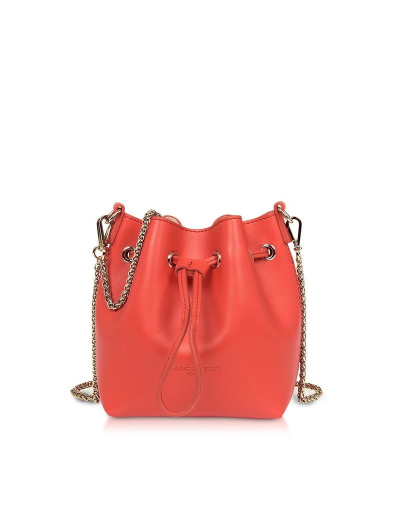 Lancaster Paris Designer Handbags, Treasure and Annae Leather Mini Bucket Bag