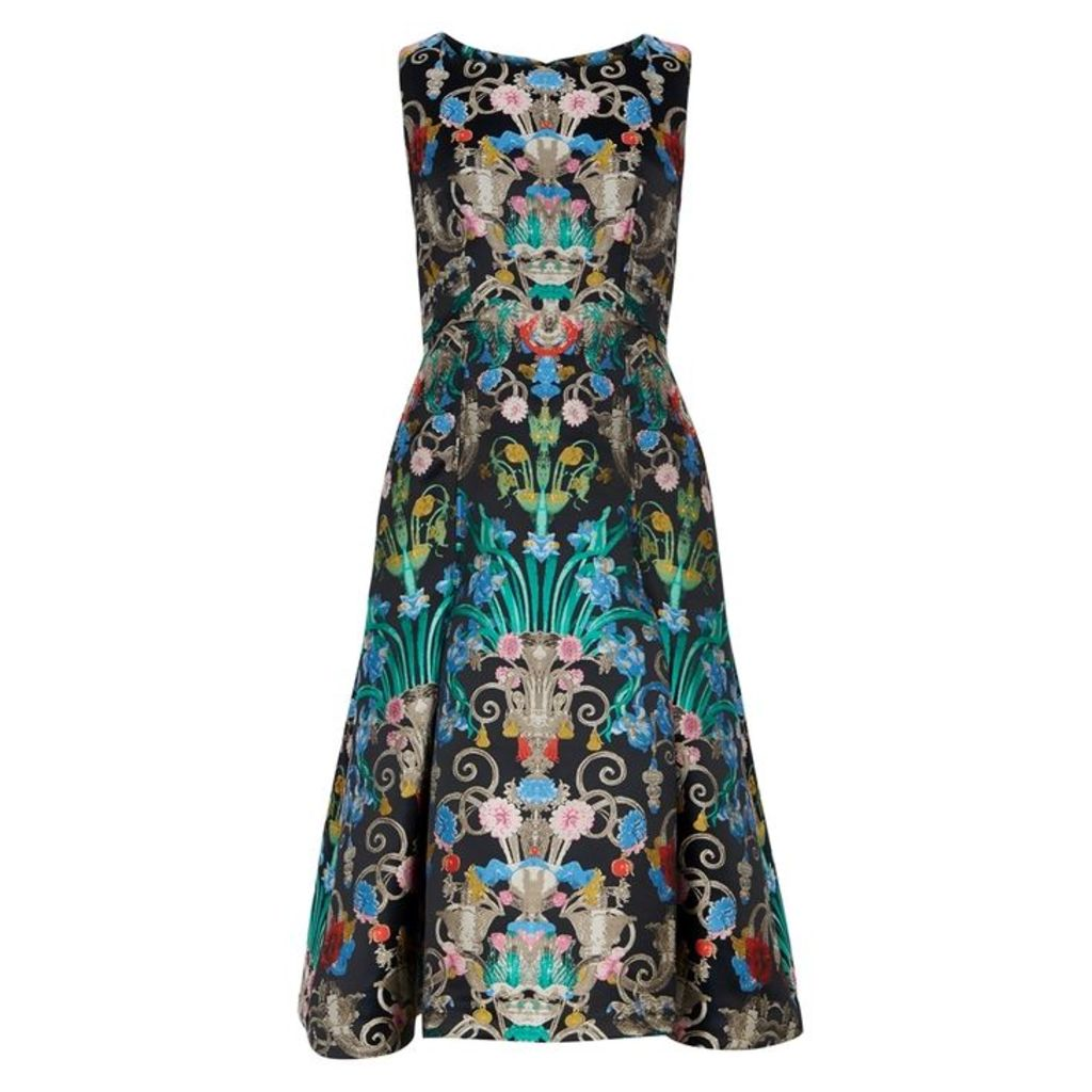 Mary Katrantzou Talon Flared Jacquard Dress