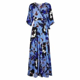 Diane Von Furstenberg Eloise Printed Silk Maxi Dress