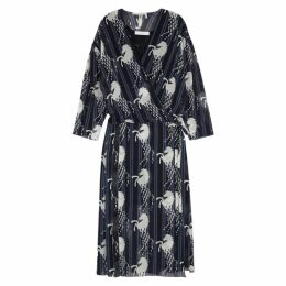 Chloé Horse-print Silk Midi Wrap Dress