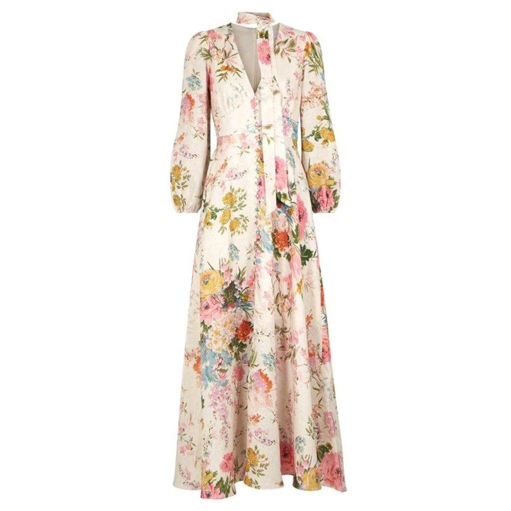 Zimmermann Heathers Printed Linen Maxi Dress