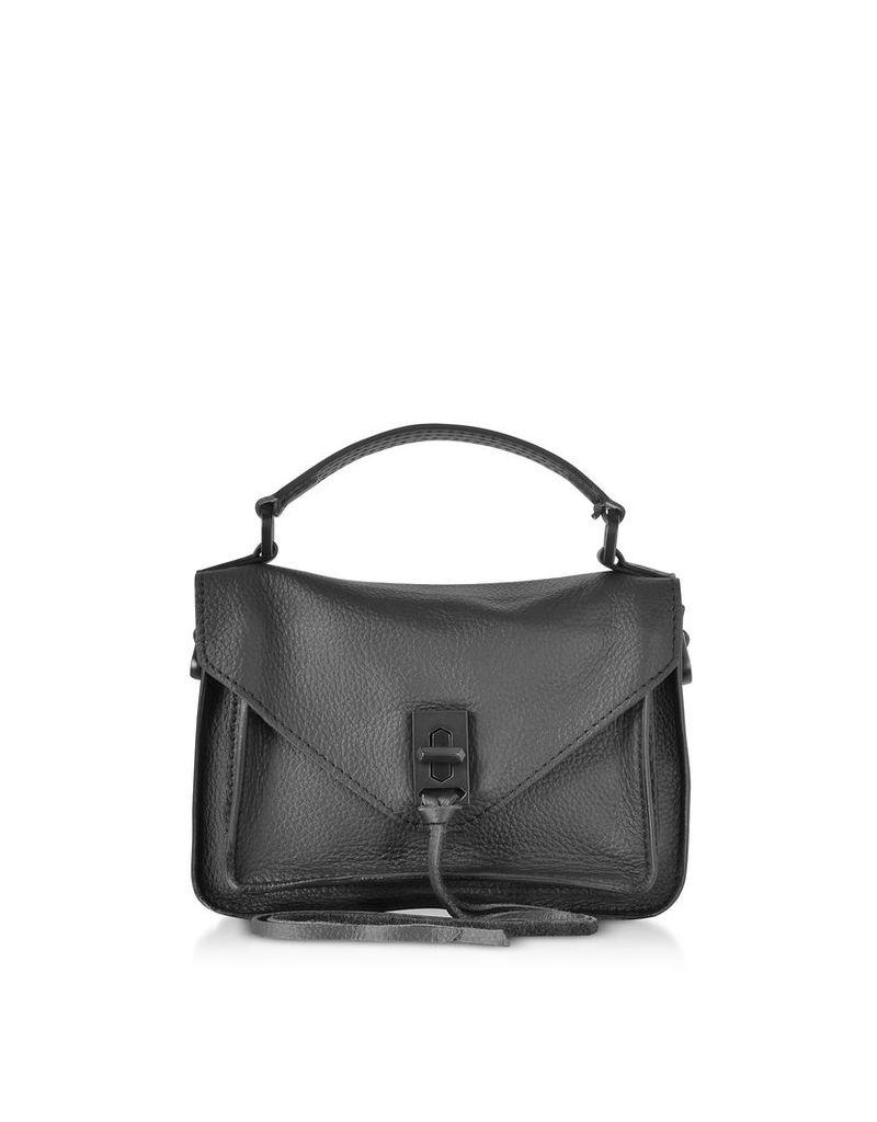 Rebecca Minkoff Designer Handbags, Black Leather Mini Darren Messenger Bag
