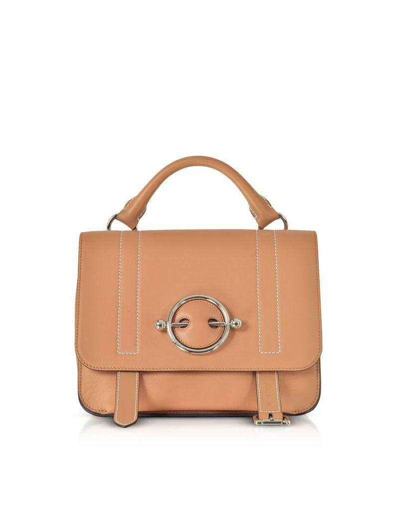 JW Anderson Designer Handbags, Caramel Disc Satchel Bag