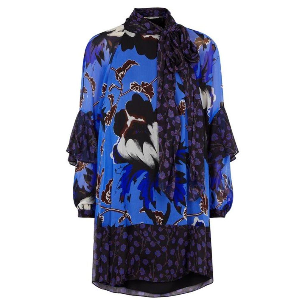 Diane Von Furstenberg Effie Printed Silk Chiffon Dress