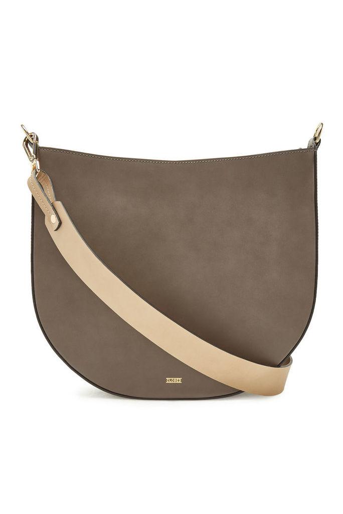 Closed Leather Shoulder Bag
