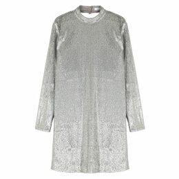 Samsøe & Samsøe Theta Silver Sequinned Dress