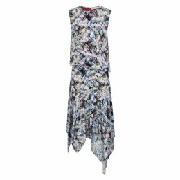 Preen Line Flora Printed Crepe De Chine Dress