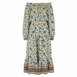 Sea NY Printed Off-the-shoulder Silk Dress