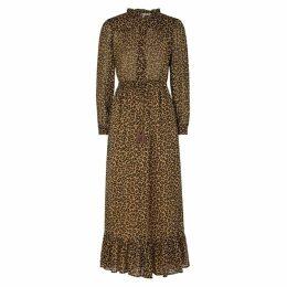 Sea NY Lottie Leopard-print Georgette Dress
