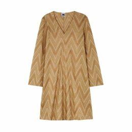 M Missoni Gold Zigzag Metallic-knit Dress