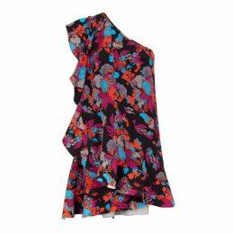 Givenchy Printed Silk Crepe De Chine Mini Dress