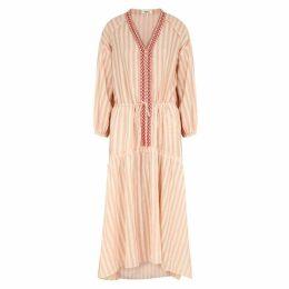 Lemlem Nefasi Striped Cotton-blend Maxi Dress