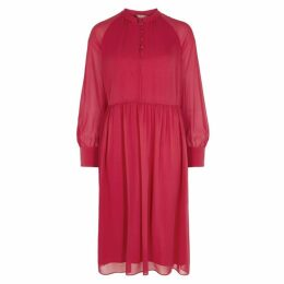 Max Mara Studio Fazio Red Silk Chiffon Dress