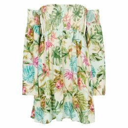 PilyQ Tulum Madison Floral-print Rayon Dress