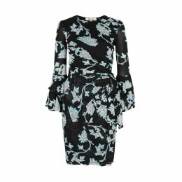 Diane Von Furstenberg Faridah Floral-print Mesh Mini Dress