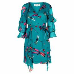 Diane Von Furstenberg Marianna Silk Chiffon Midi Wrap Dress