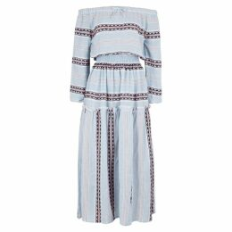 Lemlem Riban Striped Cotton-blend Maxi Dress