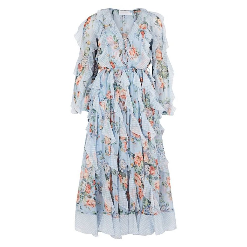 Zimmermann Bowie Printed Silk Chiffon Midi Dress
