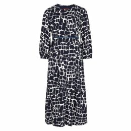 Max Mara Studio Zannata Navy Giraffe-print Dress