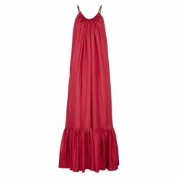 KALITA Brigitte Red Silk-habotai Maxi Dress