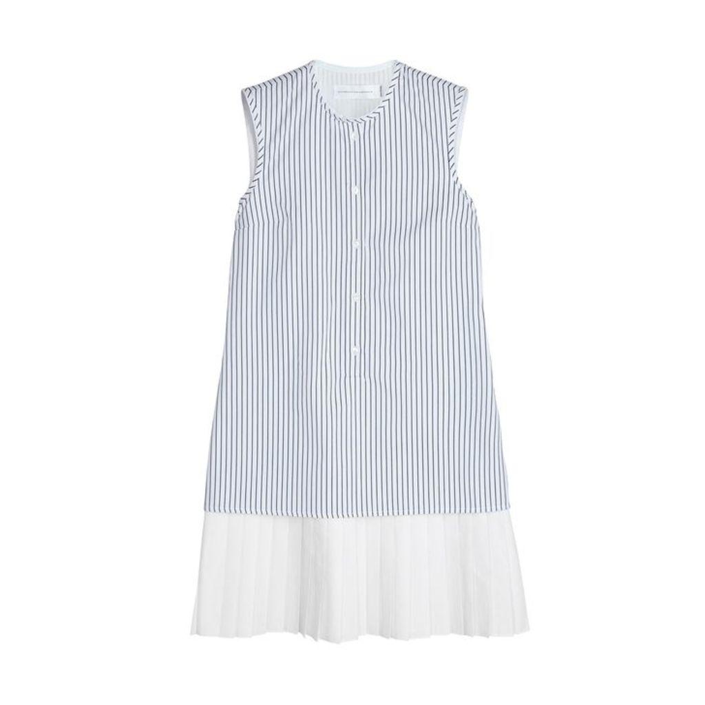 Victoria, Victoria Beckham White Striped Poplin Dress