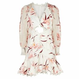 Zimmermann Corsage Bauble Printed Linen Dress