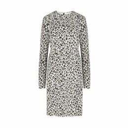 Givenchy Leopard-intarsia Knitted Dress