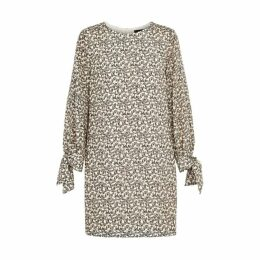 Paule Ka Zebra-print Silk Crepe De Chine Dress