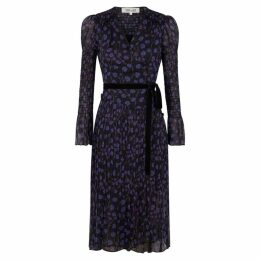 Diane Von Furstenberg Ani Floral-print Silk Midi Wrap Dress