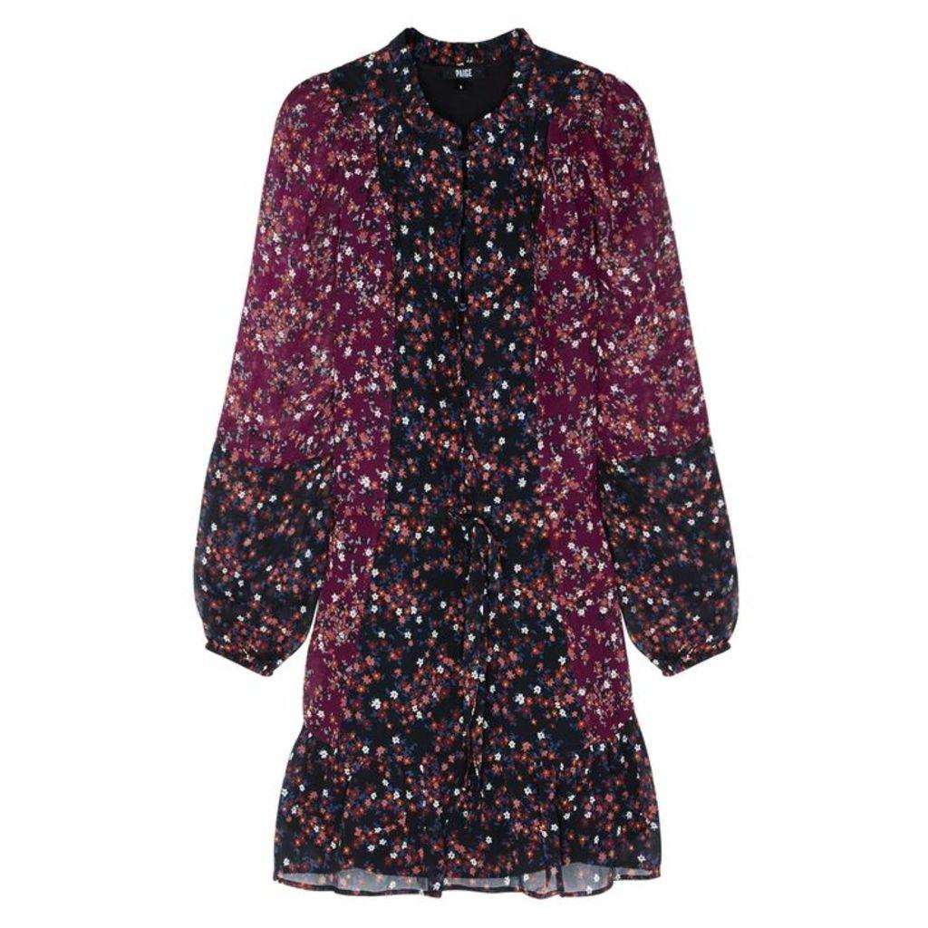 Paige Sonoma Floral-print Plissé Dress