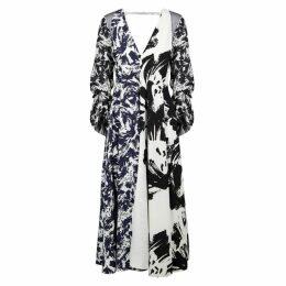 Roland Mouret Arthur Contrast-print Midi Dress