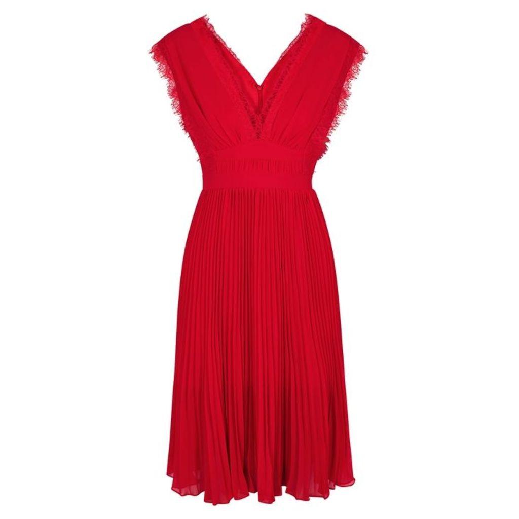 THREE FLOOR Scarlett Ribbon Lace And Georgette Dress